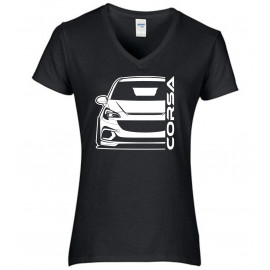 Opel Corsa E OPC Outline Modern V-Neck Lady