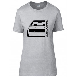 Opel Ascona B Outline Modern T-Shirt Lady