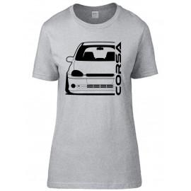 Opel Corsa B GSI Outline Modern T-Shirt Lady