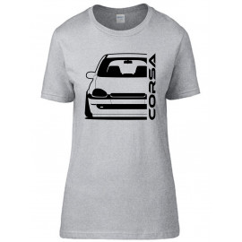 Opel Corsa B Outline Modern T-Shirt Lady