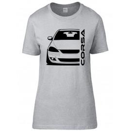 Opel Corsa C GSI Outline Modern T-Shirt Lady