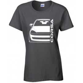 Opel Corsa C Outline Modern T-Shirt Lady