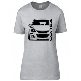Opel Corsa D OPC Nürburgring Outline Modern T-Shirt Lady