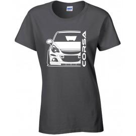 Opel Corsa D OPC Outline Modern T-Shirt Lady