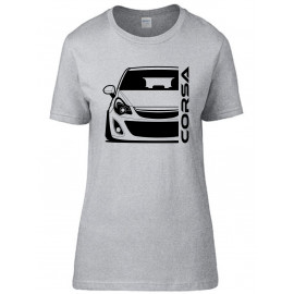 Opel Corsa D Outline Modern T-Shirt Lady