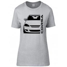 Opel Corsa D Diesel Outline Modern T-Shirt Lady