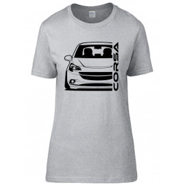 Opel Corsa E Outline Modern T-Shirt Lady
