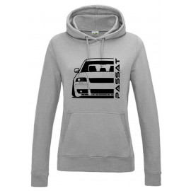 VW Passat 3BS W8 Outline Modern Hoodie Lady