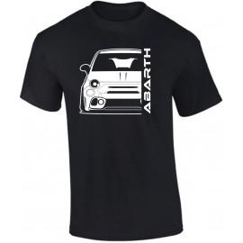 Fiat Abarth 595 2019 Outline Modern T-Shirt