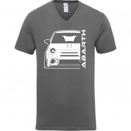 Fiat Abarth 595 2019 Outline Modern V-Neck
