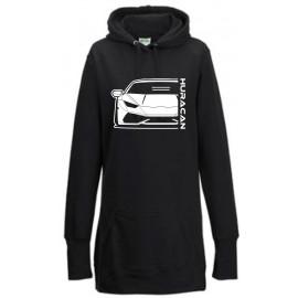 Lamborghini Huracan Outline Modern Hoodie Lady Longline