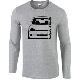 Opel Corsa B GSI Outline Modern Longsleeve Shirt