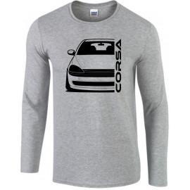 Opel Corsa C Outline Modern Longsleeve Shirt