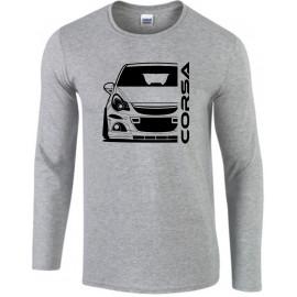 Opel Corsa D OPC Nürburgring Outline Modern Longsleeve Shirt