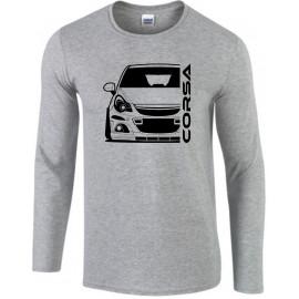 Opel Corsa D OPC Outline Modern Longsleeve Shirt