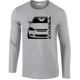 Opel Corsa D Diesel Outline Modern Longsleeve Shirt
