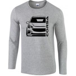 Opel Corsa E OPC Outline Modern Longsleeve Shirt