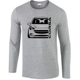 Opel Corsa E Outline Modern Longsleeve Shirt