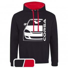 Opel Corsa D Diesel Outline Modern Hoodie Varsity