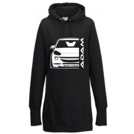 Opel Adam Outline Modern Hoodie Lady Longline