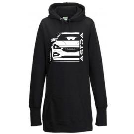 Opel Astra K Modern Outline Hoodie Lady Longline