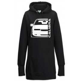 Opel Calibra Cliff Edition Outline Modern Hoodie Lady Longline
