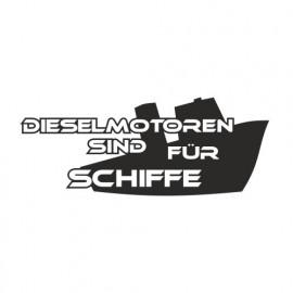 Dieselmotoren sind für Schiffe