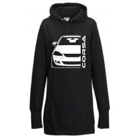 Opel Corsa C GSI Outline Modern Hoodie Lady Longline