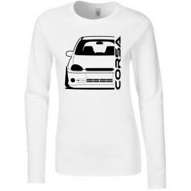 Opel Corsa B GSI Outline Modern Longsleeve Lady