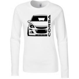 Opel Corsa D OPC Nürburgring Outline Modern Longsleeve Lady