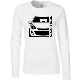 Opel Corsa D Outline Modern Longsleeve Lady
