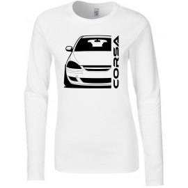 Opel Corsa D Diesel Outline Modern Longsleeve Lady