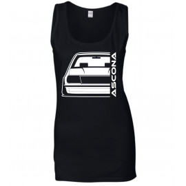 Opel Ascona B Outline Modern Tank Top Lady