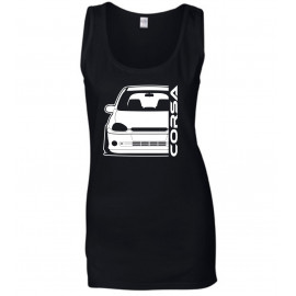 Opel Corsa B GSI Outline Modern Tank Top Lady