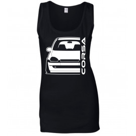 Opel Corsa B Outline Modern Tank Top Lady