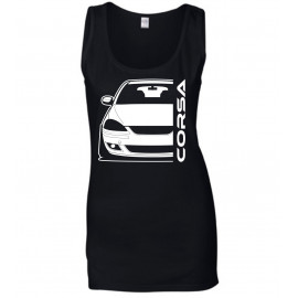 Opel Corsa C GSI Outline Modern Tank Top Lady