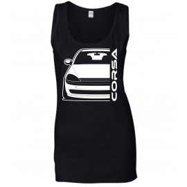 Opel Corsa C Outline Modern Tank Top Lady