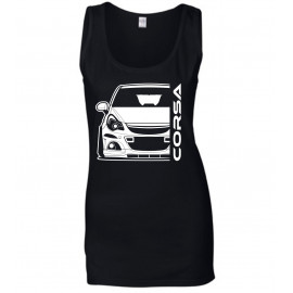 Opel Corsa D OPC Outline Modern Tank Top Lady