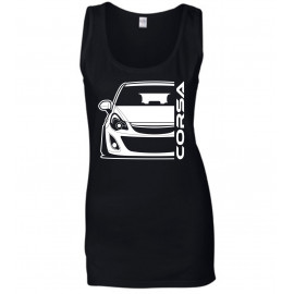 Opel Corsa D Outline Modern Tank Top Lady