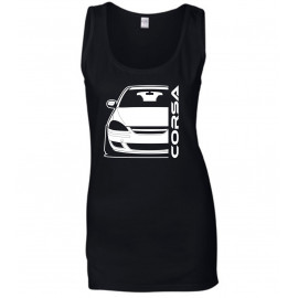 Opel Corsa D Diesel Outline Modern Tank Top Lady