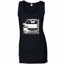 Opel Corsa E Outline Modern Tank Top Lady