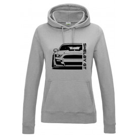 Ford Mustang Shelby GT500 2020 Outline Modern Hoodie Lady