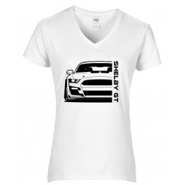 Ford Mustang Shelby GT500 2020 Outline Modern V-Neck Shirt Lady