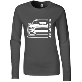 Ford Mustang Shelby GT500 2020 Outline Modern Longsleeve Lady