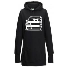 VW Passat 3BS W8 Outline Modern Hoodie Lady Longline