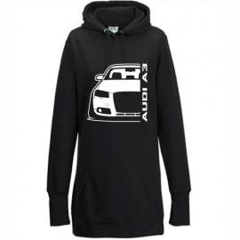 Audi A3 8P Outline Modern Hoodie Lady Longline