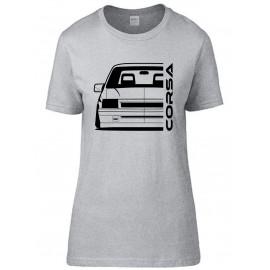 Opel Corsa A GSI Outline Modern T-Shirt Lady