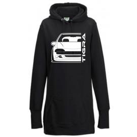 Opel Tigra A Outline Modern Hoodie Lady Longline