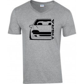 Opel Tigra A Outline Modern V-Neck