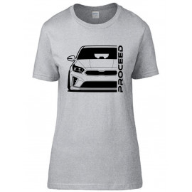 Kia Proceed 2019 Outline Modern T-Shirt Lady